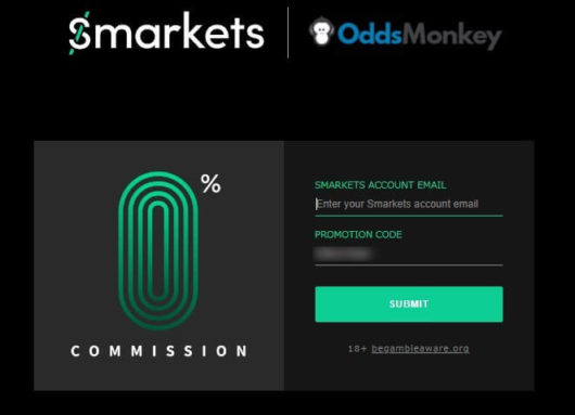 oddsmonkey review, smarkets free commission code