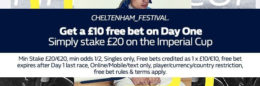 cheltenham betting, william hill sandown free bet