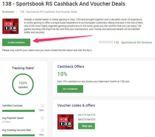 betting cashback, coupon arbitrage go claim form