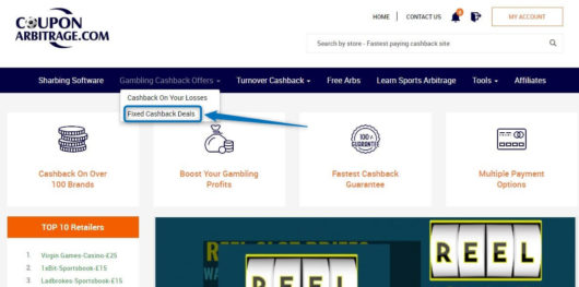 betting cashback, coupon arbitrage go fixed refund