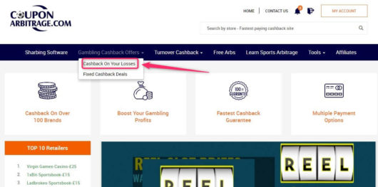 betting cashback, coupon arbitrage go lose refund