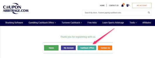 betting cashback, coupon arbitrage go offers