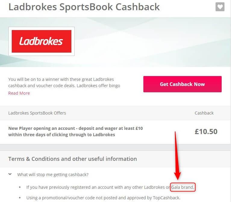 betting cashback, ladbrokes t and c