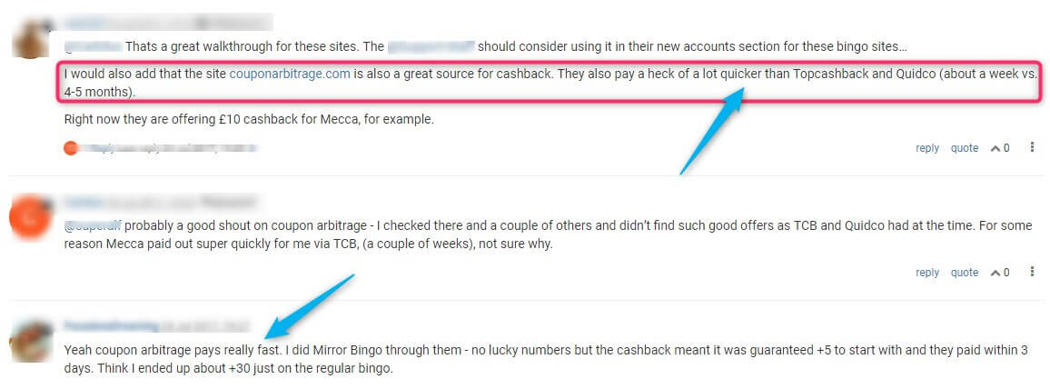 betting cashback, oddsmonkey forum comments
