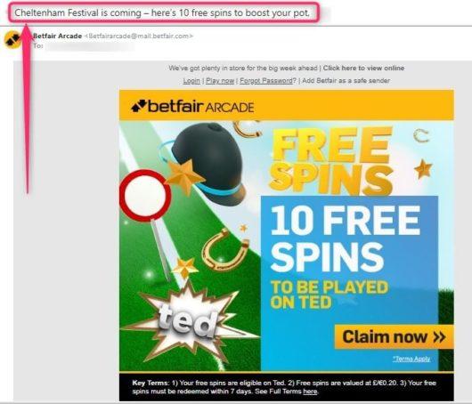cheltenham betting, betfair arcade free spins