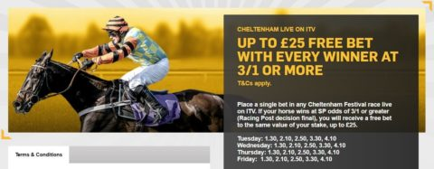 cheltenham betting, betfair itv offer