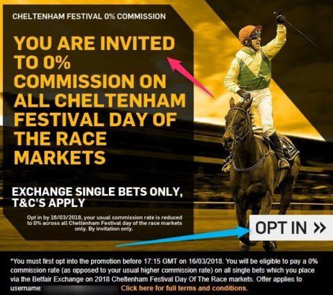 cheltenham betting, betfair no commission