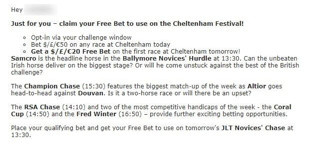 cheltenham betting, betstar exclusive offer 2nd day