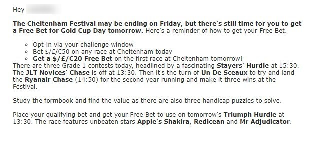 cheltenham betting, betstar exclusive offer 3rd day