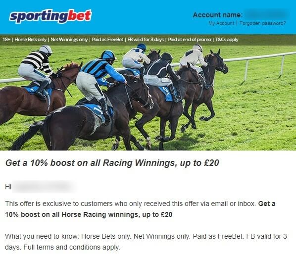 cheltenham betting, sportingbet offer