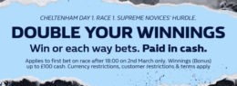 cheltenham betting, william hill offer