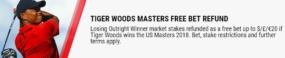 betting golf majors, betstar offer