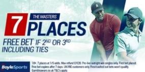 betting golf majors, boylesports offer