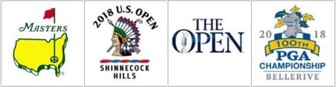 betting golf majors, grand slam logo