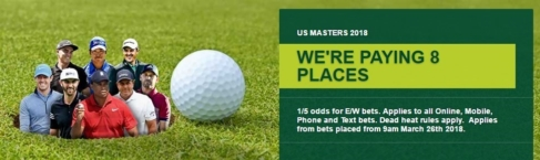 betting golf majors, paddy power extra place