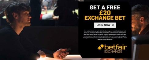 betfair exchange welcome 20 free bet