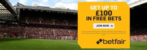 betfair sportsbook welcome offer 100 free bet