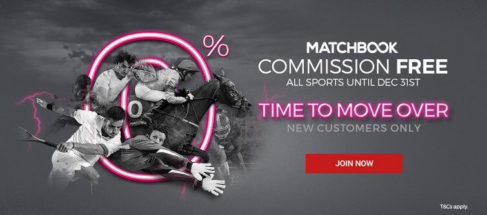 matchbook zero commission new players end december