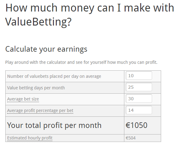 rebelbetting value betting earning calculator