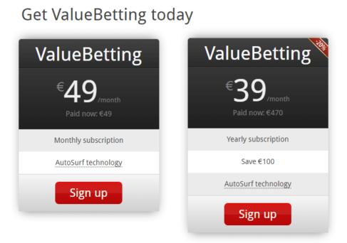 rebelbetting value betting price