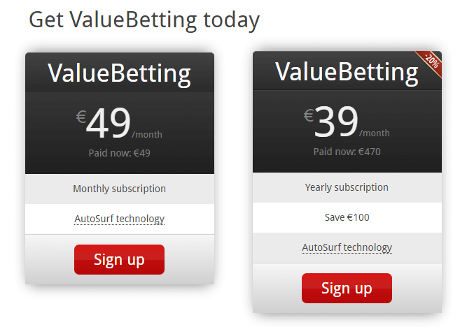 Value Bets Finder