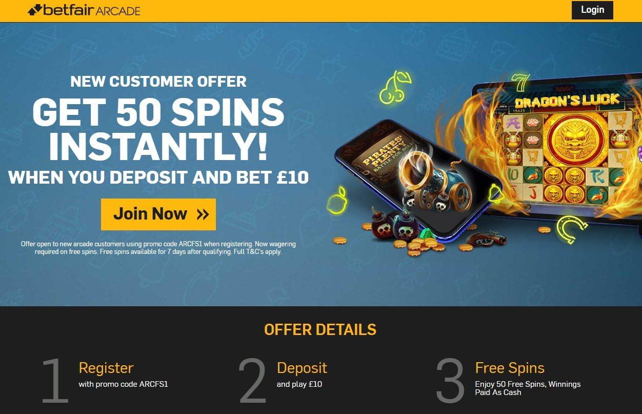 betfair arcade welcome low risk bonus