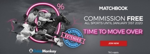 Oddsmonkey Matchbook 0% Extension to 31 Jan 2020