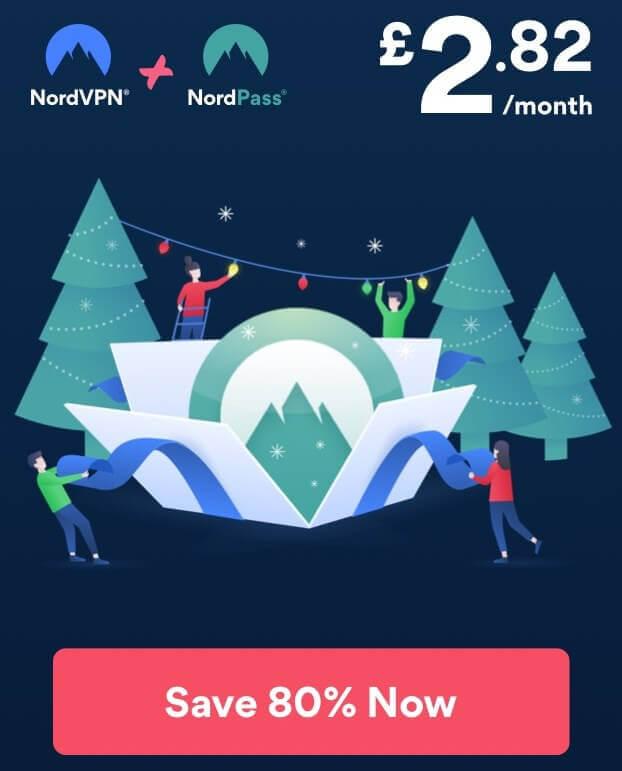 nord vpn 80% off