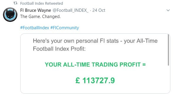 Football Index Member Earnings
