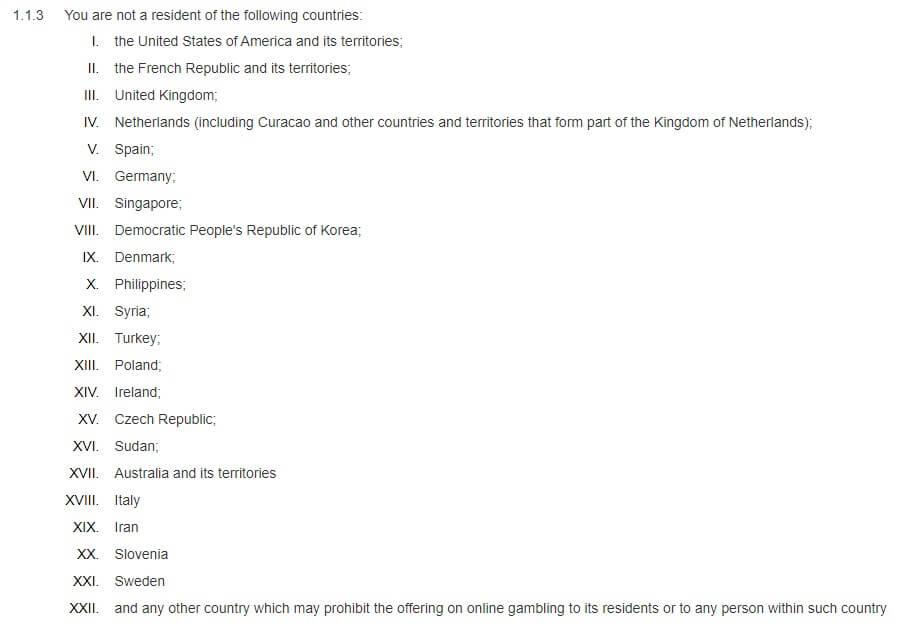 Pinnacle Sports Banned Countries