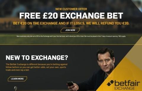 betfair new customer exchange gbp20 risk free