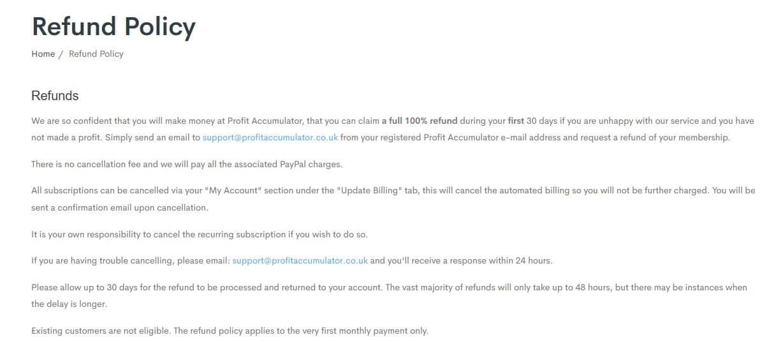 profit accumulator refund tc