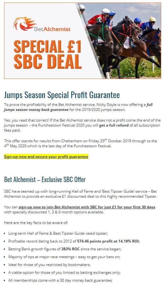 sbc bet alchemist offer