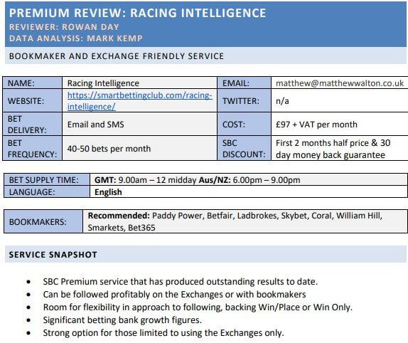sbc racing intelligence betfair sp full report
