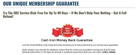 sbc money back guarantee