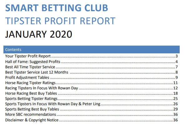 sbc tipster report jan 2020 index