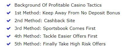 5 key casino sign-up tactics
