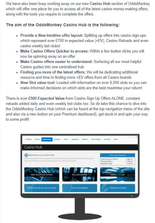 oddsmonkey casino hub explanation