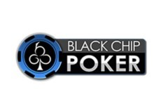 black chip poker logo