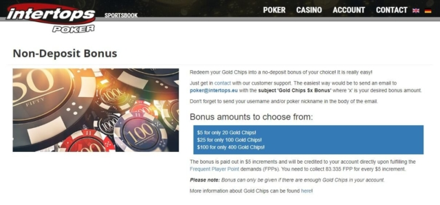 intertops poker no deposit bonus