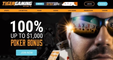 tiger gaming poker welcome bonus