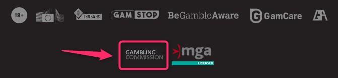 uk gambling commission registration symbol