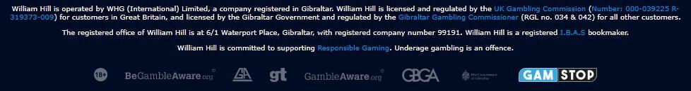 william hill casino no ecogra seal