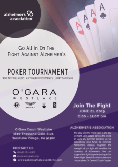 Poker Night Benefit Save the Date Alzheimers Association