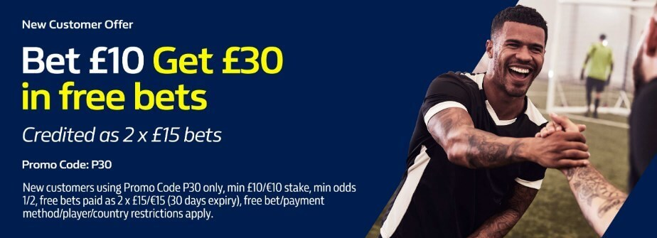 william hill bet 10 get 30 free bets