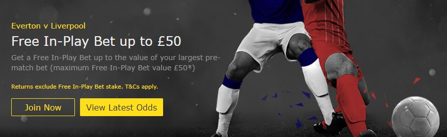 bet365 in play offer liverpool vs everton