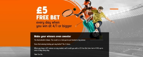 888sports GBP5 free bet every day