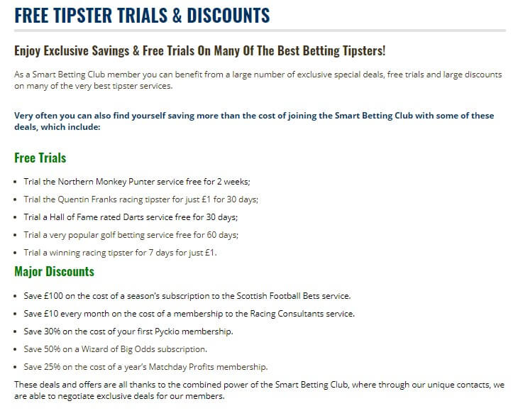 SBC tipster discount list