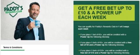 paddy power free bet club