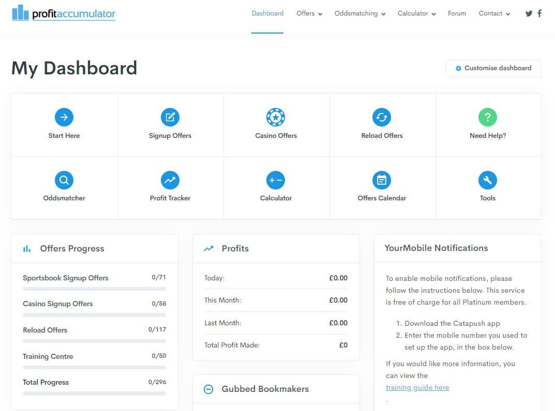 profit accumulator screenshot dashboard